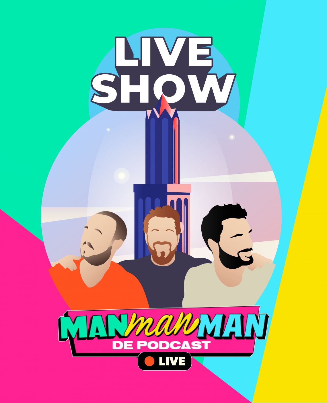 Man man man, de podcast live in de Dom